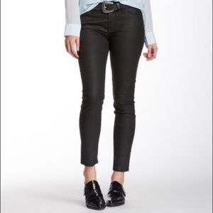 7FAM Cropped Gwenevere coated jeans